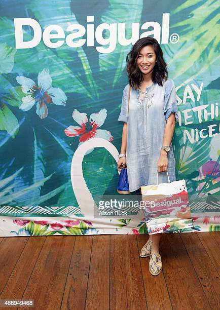 Blogger Stephanie Liu attends Kari Feinstein's Music Festival Style Lounge at Sunset Marquis Hotel Villas on April 8 2015 in West Hollywood California