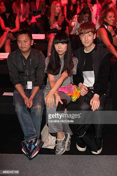 Blogger Susie Bubble attends the Carla Zampatti show during MercedesBenz Fashion Week Australia 2014 at Carriageworks on April 6 2014 in Sydney...