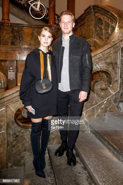 Blogger Swantje Soemmer and Artem Degenhardt during the 'Marc Cain Mysteriously' fragrance line presentation at Lovelace Hotel on October 26 2017 in...