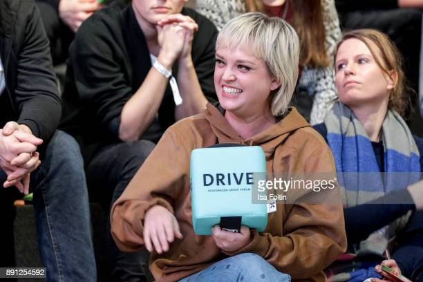 Blogger Vreni Frost during the discussion panel of Clich'e Bashing 'soziale Netzwerke Real vs Digital' In Berlin at DRIVE Volkswagen Group Forum on...