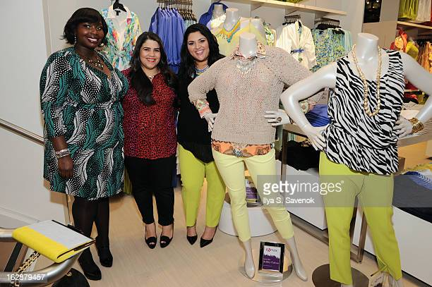 Bloggers Alissa Wilson, Ashley Falcon and Marcy Guevara attend Carnie Wilson & Jay Manuel Celebrate Lane Bryant's NYC Flagship on February 28, 2013...