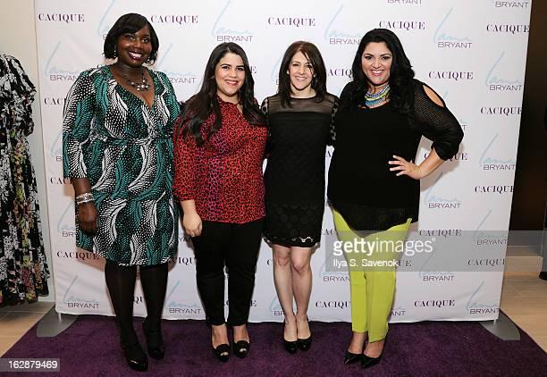 Bloggers Alissa Wilson, Ashley Falcon, SVP & Chief Marketing Officer Liz Crystal and blogger Marcy Guevara attend Carnie Wilson & Jay Manuel...
