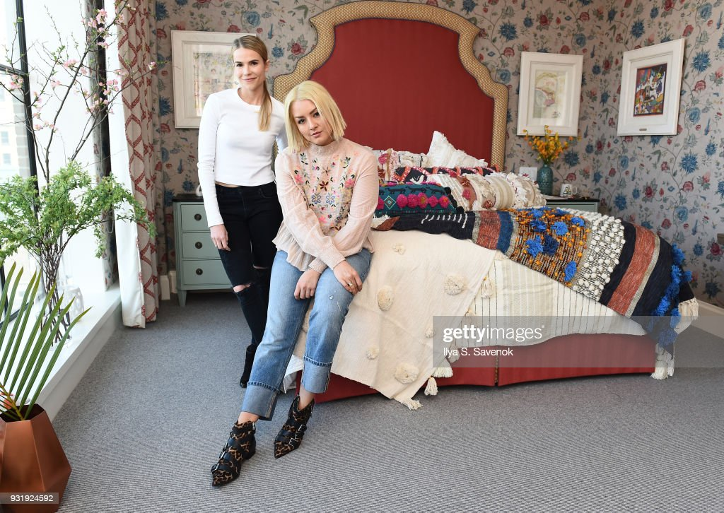Bloggers Ashley Chmelka and Chinae Alexander pose during Nordstrom and Anthropologie partner to Introduce Anthropologie Home In Nordstrom stores and Nordstrom.com on March 14, 2018 in New York City.
