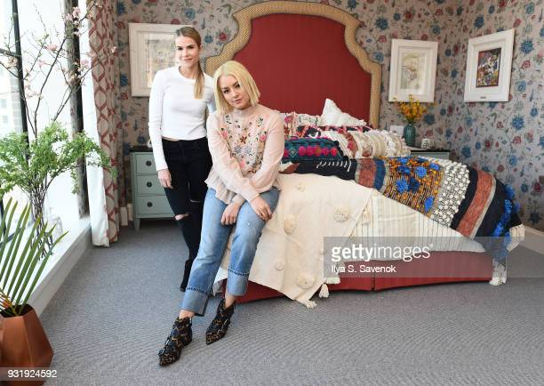 Bloggers Ashley Chmelka and Chinae Alexander pose during Nordstrom and Anthropologie partner to Introduce Anthropologie Home In Nordstrom stores and...