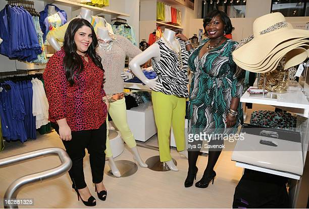 Bloggers Ashley Falcon and Alissa Wilson attend Carnie Wilson & Jay Manuel Celebrate Lane Bryant's NYC Flagship on February 28, 2013 in New York City.