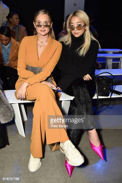 Bloggers Danielle Bernstein and Serena Goh attend the Laquan Smith front row during New York Fashion Week The Shows at Gallery I at Spring Studios on...