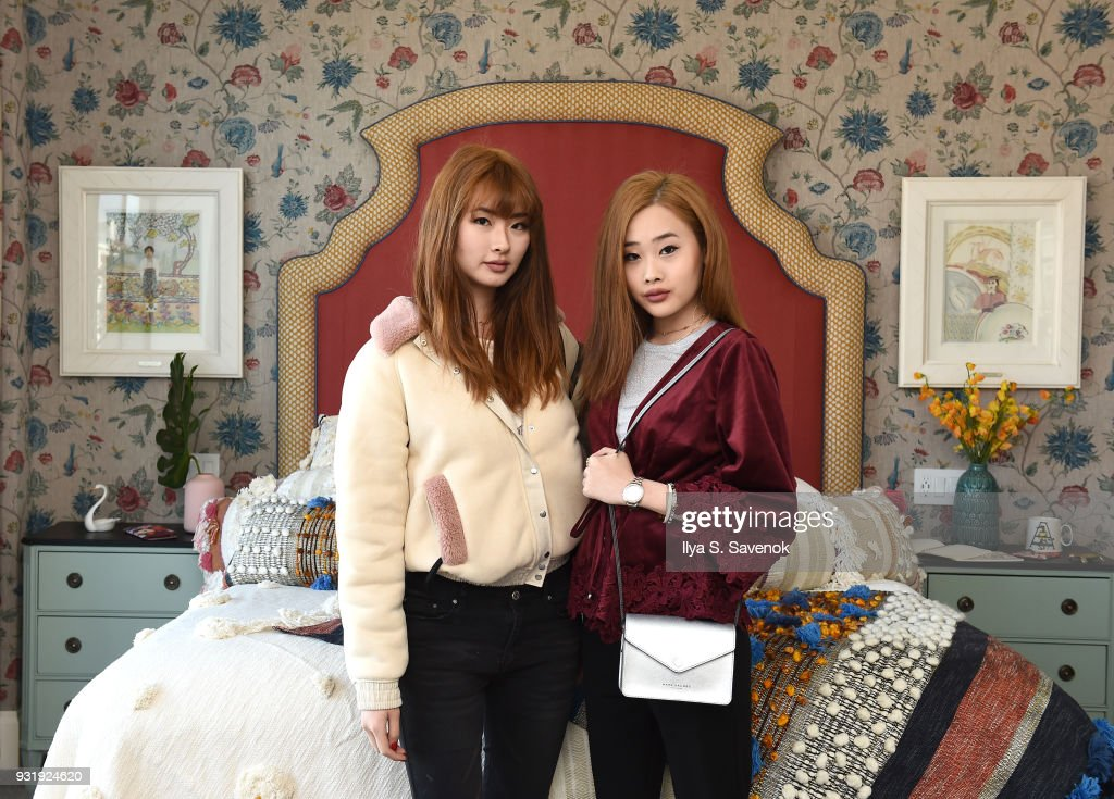 Bloggers Daseul Lee and Kate Dyl pose during Nordstrom and Anthropologie partner to Introduce Anthropologie Home In Nordstrom stores and Nordstrom.com on March 14, 2018 in New York City.