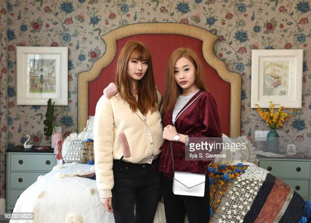 Bloggers Daseul Lee and Kate Dyl pose during Nordstrom and Anthropologie partner to Introduce Anthropologie Home In Nordstrom stores and Nordstromcom...