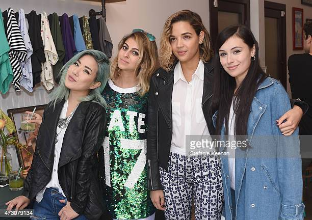 Bloggers Eugenie Grey Elaine Daneshrad Georgie Flores and Marta Pozzan attend MeUndies Women's Launch Seaside at MeUndies #AllOfMeUndies on May 12...