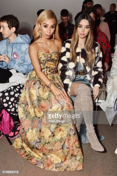 Bloggers Eva Gutowski and Sierra Furtado attends the Christian Cowan fashion show during New York Fashion Week The Shows at Gallery II at Spring...
