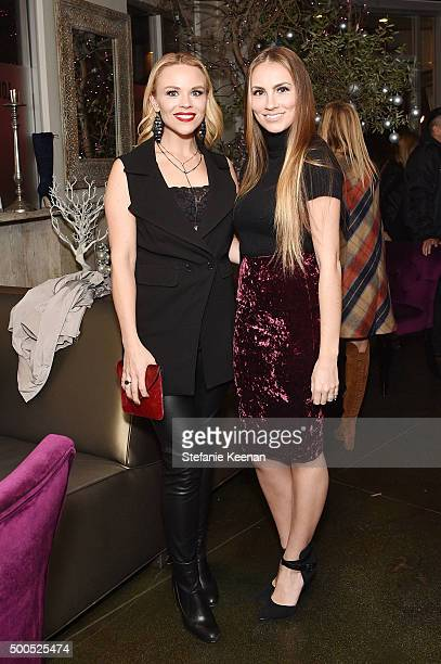 Bloggers Julie Solomon and Angela Lanter attend #GivingTuesdayShoeDazzle Hosted By Olivia Culpo Benefiting Project Sunshine at Pump on December 8,...