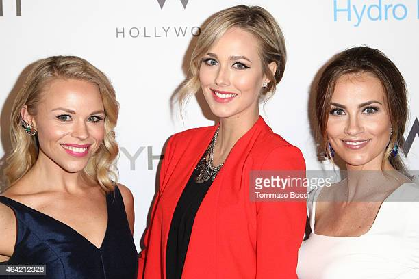 Bloggers Julie Solomon, Sheridan Gregory and Angela Lanter attend the Neutrogena Hydro Boost + MyHabit With OK!TV Oscars Viewing Party on February...