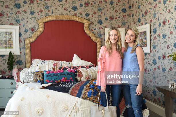 Bloggers Katie Manwaring and Kendall Kremer pose during Nordstrom and Anthropologie partner to Introduce Anthropologie Home In Nordstrom stores and...