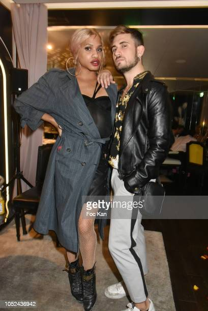 Bloggers Kevhoney Scarlett and Yanis Bargoin attend The 'O Masha t' Burlesque Concert Party at Le Masha Club on October 17, 2018 in Paris, France.
