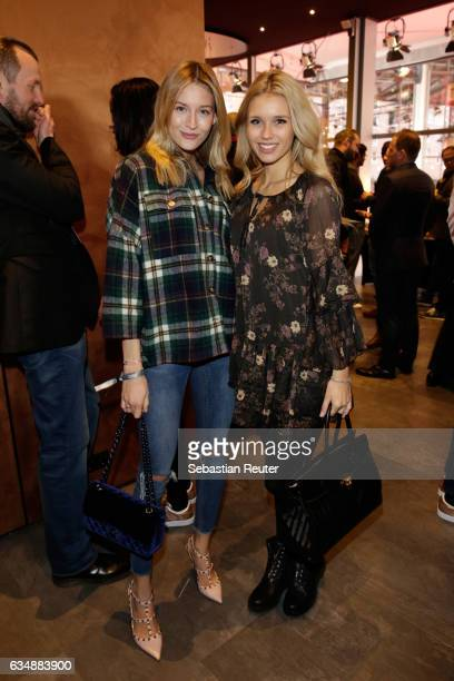 Bloggers Mandy Bork and Scarlett Gartmann attend the Audi Berlinale Brunch during the 67th Berlinale International Film Festival on February 12 2017...