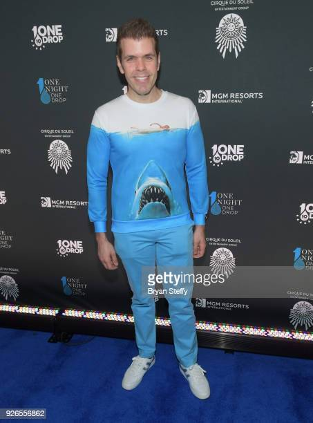 Blogger/television personality Perez Hilton attends the sixth annual One Night for One Drop imagined by Cirque du Soleil a show that raises awareness...