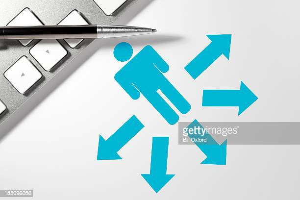 blogging - following arrows stock pictures, royalty-free photos & images