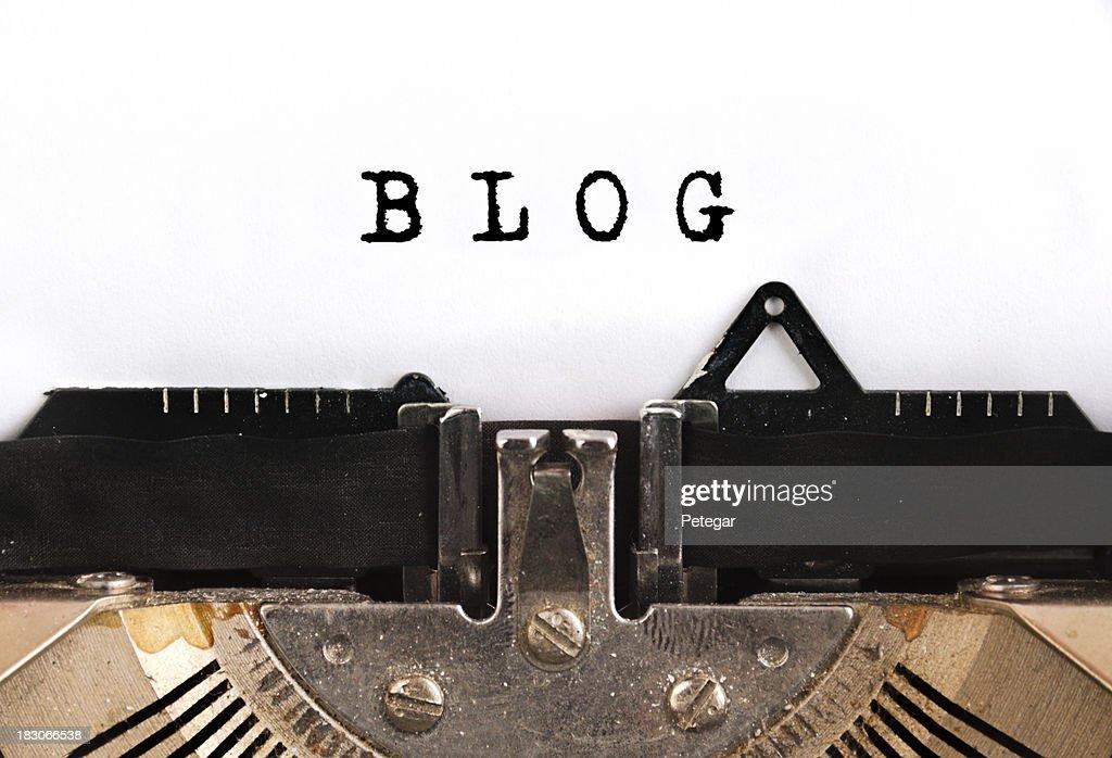 BlogTypewriter : Stock Photo