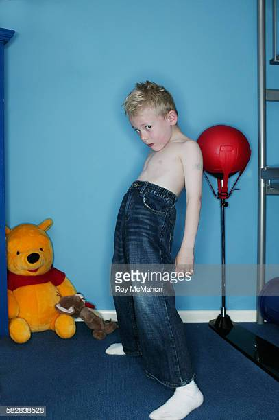 Blond Boy with Naked Torso