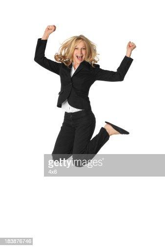 Blond Businesswoman Ju...