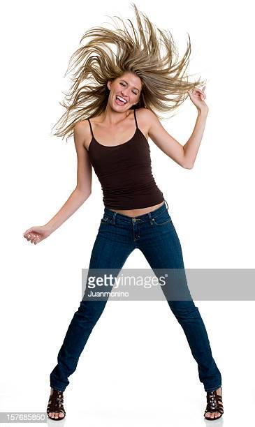 Blondes Mädchen Tanz