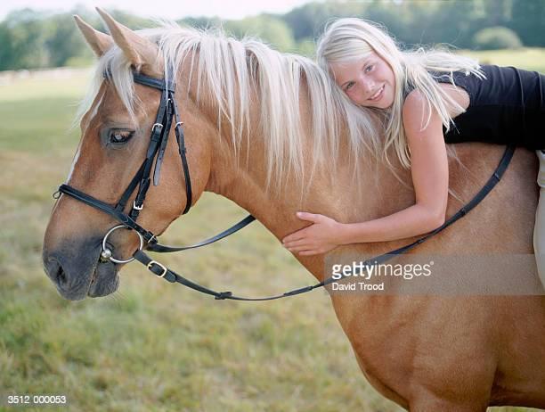 Blond Girl on Horse
