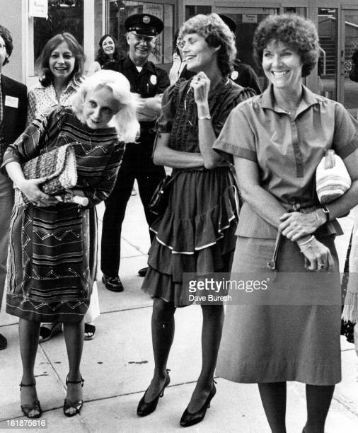 JUL 16 1982 JUL 17 1982 Blond girl on left is Gaye Yarcia of arvada She said so for I like the Duck Best when asked if she was enjoying she was there...