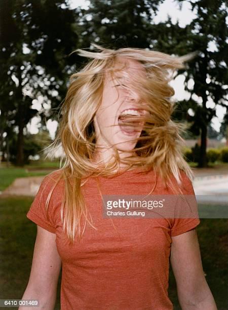 Blond Girl Shouting