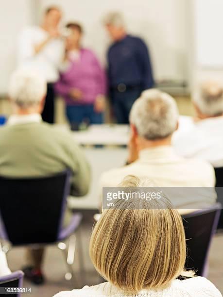 Blond Woman on Seminar