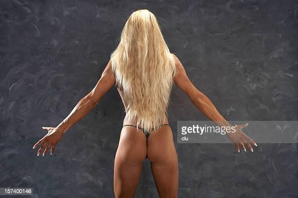 femme blonde - femme blonde en maillot de bain vue de dos photos et images de collection
