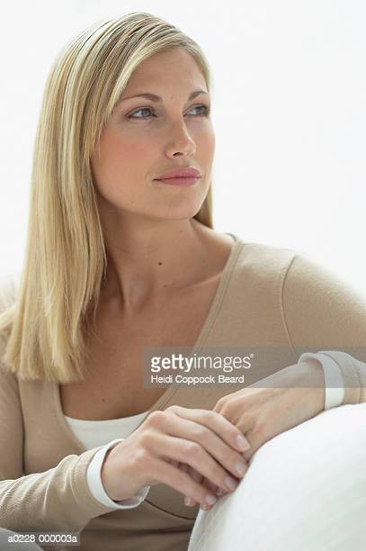 blond woman - heidi coppock beard stock pictures, royalty-free photos & images