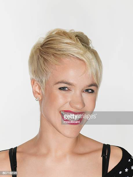 Blond Young Woman Laughing