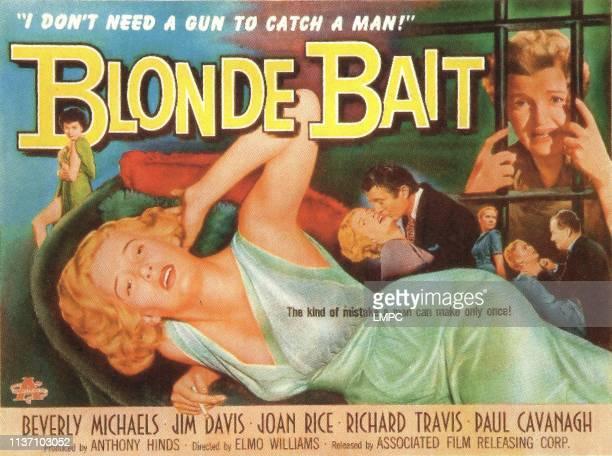 Blonde Bait lobbycard Beverly Michaels 1956