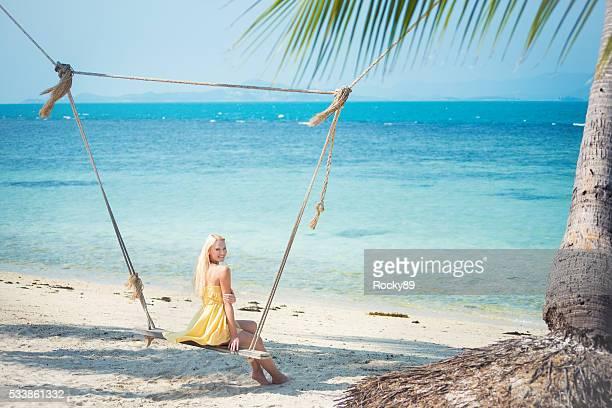 Blonde beach beauty on Koh Phangan, Thailand