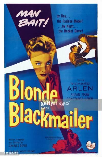 Blonde Blackmailer poster US poster art Susan Shaw 1955