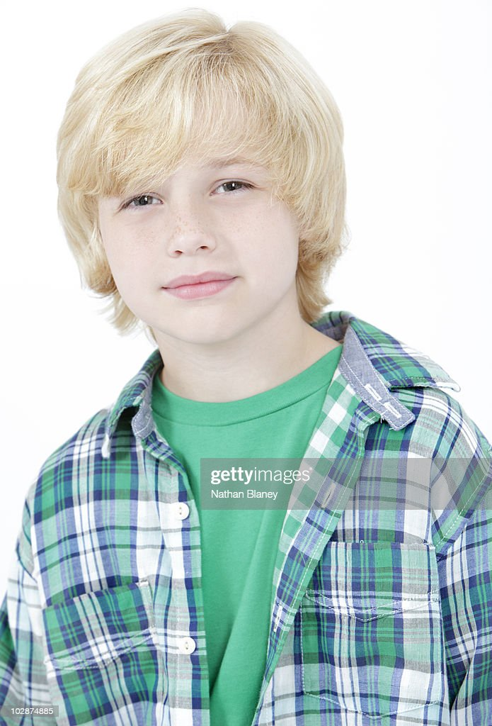 Images Of Boys Painted Bedrooms: Blonde Boy Stock Photo