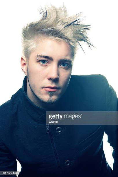 Blonde guy with styled hair