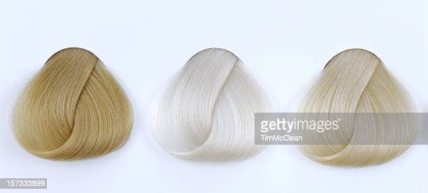 blonde hair sample - highlights stock pictures, royalty-free photos & images