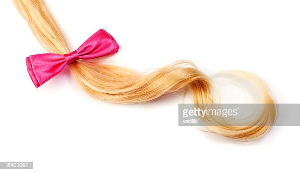 Blonde hair with hairbow
