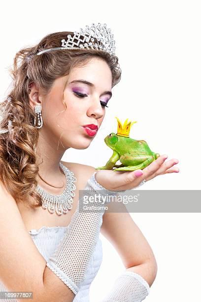 Blonde Prinzessin Küssen ein frog prince