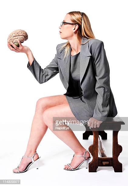 Blonde with brain