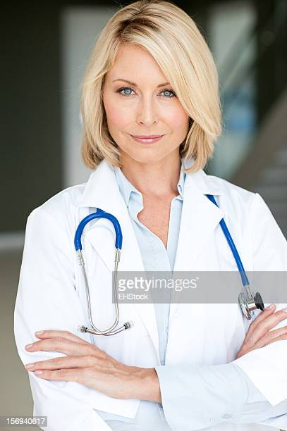 Blonde Woman Doctor in Office