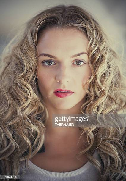 blonde woman portrait - number of people stock photos and pictures