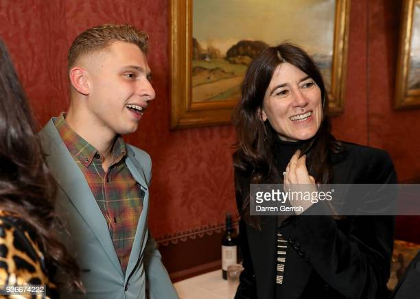 Blondey Mccoy and Bella Freud attend as Edward Enninful and Kate Moss celebrate Giovanni Morelli as the new creative director of Stuart Weitzman with...