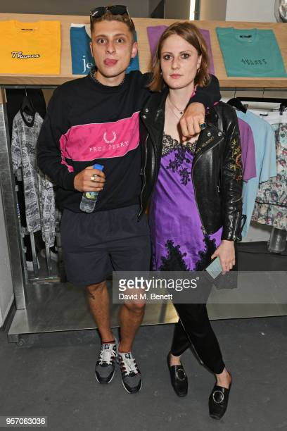 Blondey McCoy and Christabel MacGreevy attend the Planet Aries popup store presented by Aries and in association with Slam Jam on May 10 2018 in...