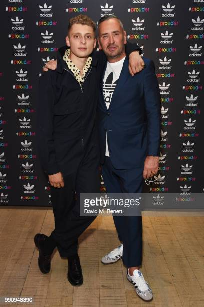 Blondey McCoy and Fat Tony attend adidas 'Prouder' A Fat Tony Project in aid of the Albert Kennedy Trust supporting LGBT youth at Heni Gallery Soho...