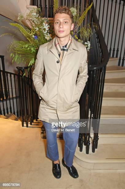 Blondey McCoy attends a breakfast hosted by Christopher Bailey Dame Natalie Massenet and Dylan Jones in celebration of London Fashion Week Men's at...