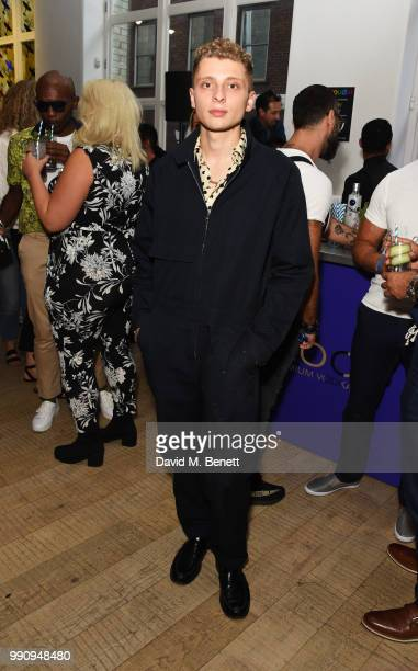 Blondey McCoy attends adidas 'Prouder' A Fat Tony Project in aid of the Albert Kennedy Trust supporting LGBT youth at Heni Gallery Soho on July 3...