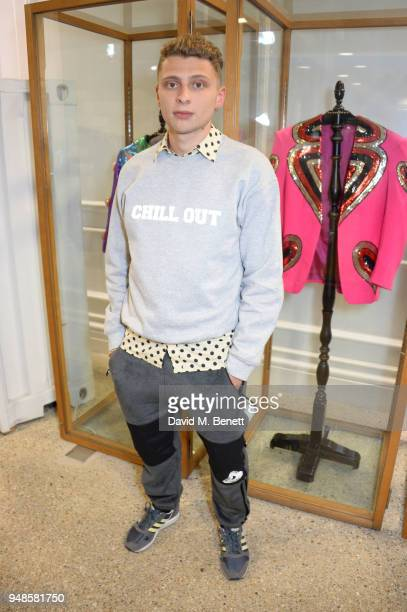 Blondey McCoy attends the Gucci Elton John Capsule launch hosted by Dover Street Market Gucci at Dover Street Market on April 17 2018 in London...