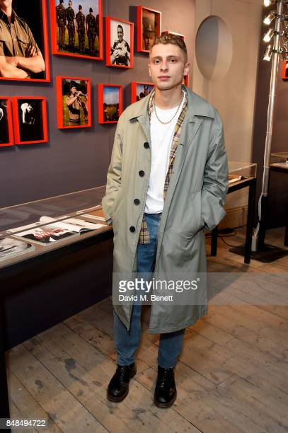 Blondey McCoy attends the private view of Burberry's 'Here We Are' exhibition which opens to the public on the 18th September at The Old Sessions...